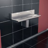 H&L Titan 1200mm High-Back Wash Trough
